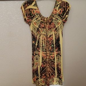 Yellow/Black Patterned Dress
